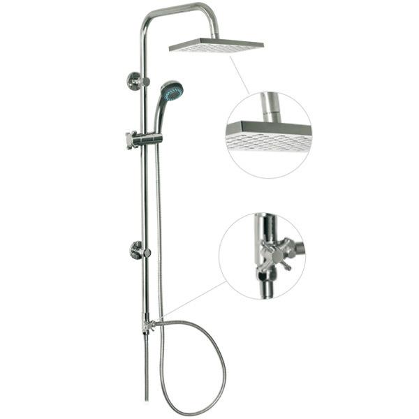 Horná sprcha s prídavnou hlavicou