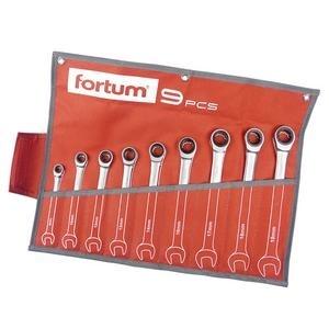 Fortum 9-dielna sada račňových očko-vidlicových kľúčov kľúčov 4720104
