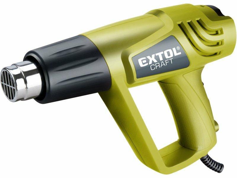 Extol Craft teplovzdušná pištoľ s nadstavcami v kufri 411023