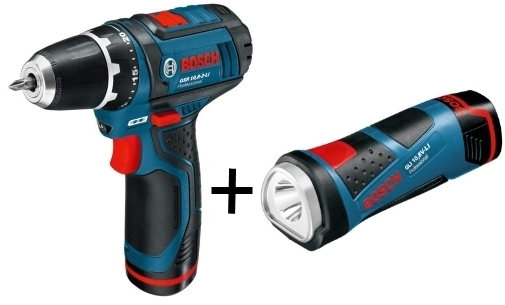 Bosch GSB 10,8-2-LI Professional + GLI Power LED