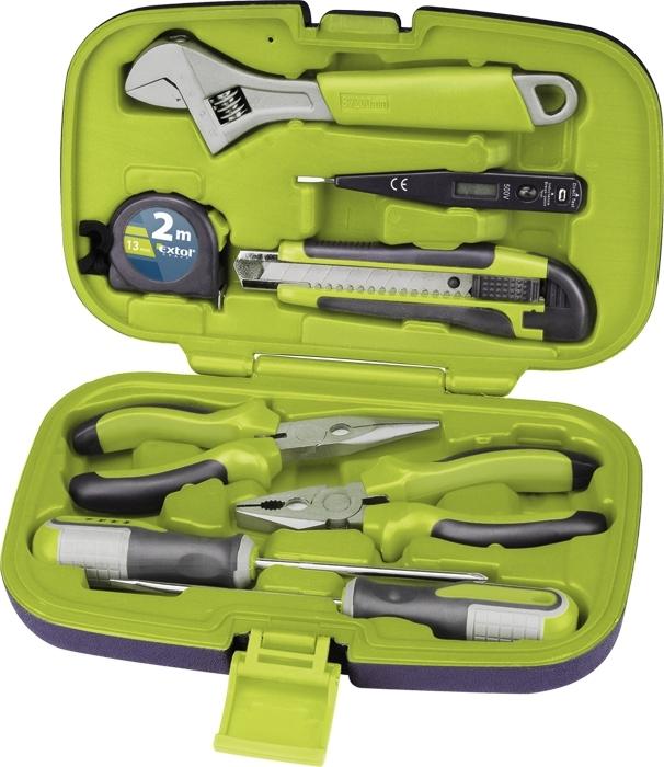 cecc1caa7e234 Extol Craft sada náradia v kufríku 8ks, kufrík, CrV 6580
