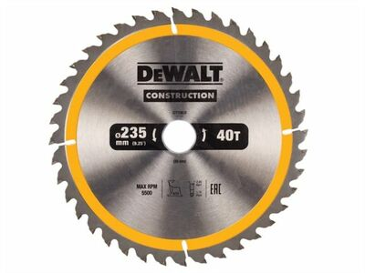DeWalt pílový kotúč Construction 235x30mm 40z DT1955