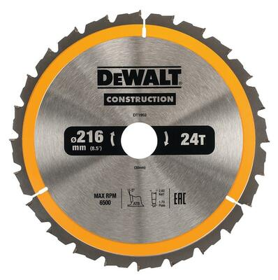 DeWalt pílový kotúč Construction 216x30mm 24z DT1952