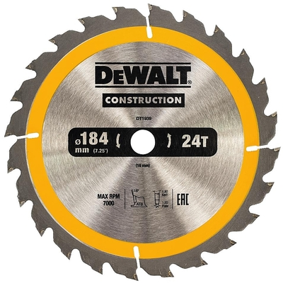 DeWalt pílový kotúč Construction 184x16mm 24z DT1939
