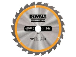 DeWalt pílový kotúč Construction 250x30mm 24z DT1956